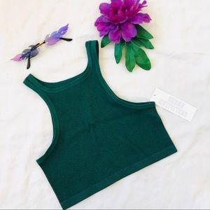 Urban outfitters seamless sleeveless tank crop top